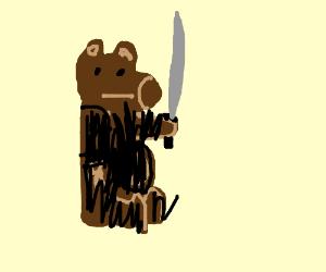hire an arabian samurai, except it's a bear