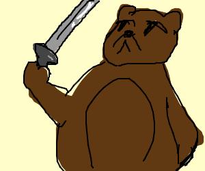 bear with a sword