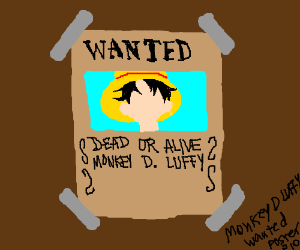 Monkey D Luffy wanted poster pio