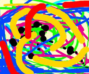 A Jackson Pollock painting