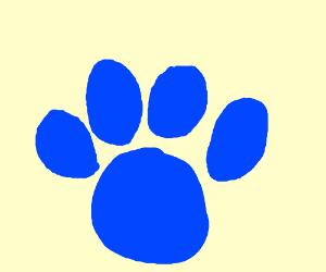 Blues Clues Pawprint Logo
