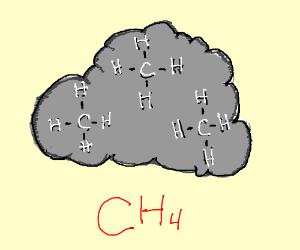 Methane cloud