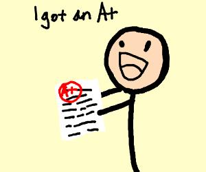 kid got an A+
