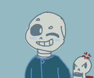 Papyrus is angry at smug sans
