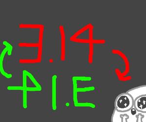 Pie is pie backwords, my life is complete