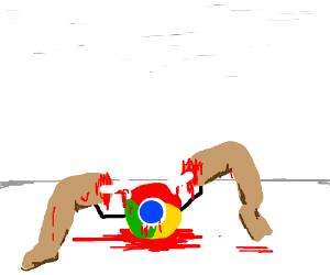google chrome eating some legs