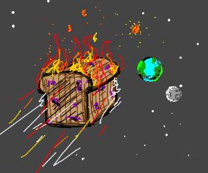 burnt raisin bread heading towards tiny earth