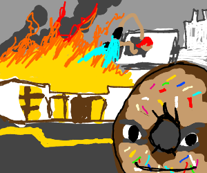 donut started fire