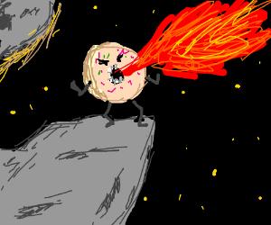 Evil Donut Breathing Fire