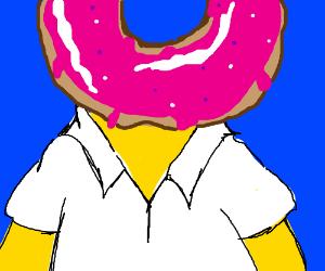 Homer Simpson's head is a donut.