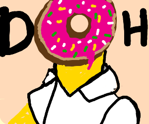 Homer's head is a donut... again.