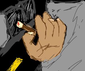 hand smoking a cigarette