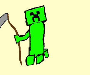 Minecraft Creeper with scythe