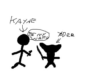 Kanye proposes to Yoda