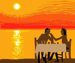 a cute date at the beach