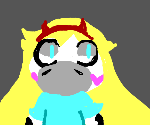 Star Butterfly as a cow
