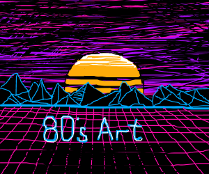 80's Retro Art  (Pass it on)