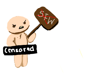 Nude man does NOT want SFW posts