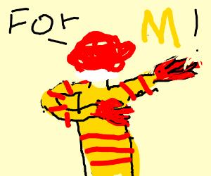 ronald mcdonald dabbing
