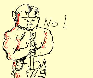 """Wario says """"No!"""""""