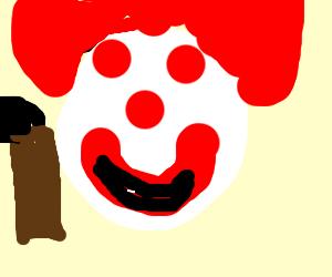 Horror clown smiling
