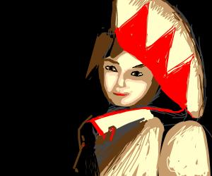 Girl wearing a traditional okinawan costume.
