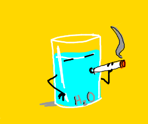 Water smoking a cigarette