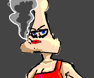 Bitchy, Bald Smoker Look Like Chess Pawn
