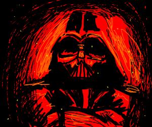 Flaming Darth Vader