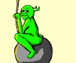 Shrek on a wrecking ball ;)