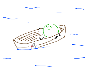 Bowling ball on a boat