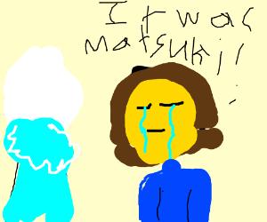 Madotsuki and Batter making fun of Frisk