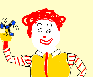 Ronald Mcdonald fitting in with millennials