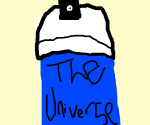 The universe in a spray can