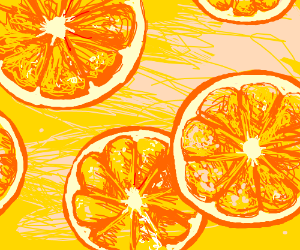 Orange slices floating in punch