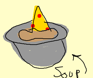 pizza soup
