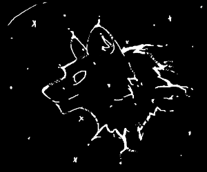 wolfhead in space