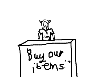 Item shop with furry owner
