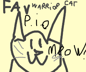 your favorite warrior cat character - Drawception