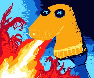 Sock Puppet Dragon Breathing Fire