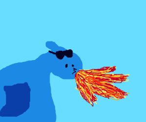 Dope Dragon Casually Shooting Some Hot Fire