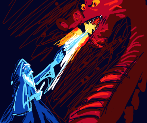 Ice Wizard takes on Fire Dragon