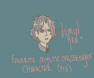 Fave Mystic Messenger Character PIO/PASS IT ON