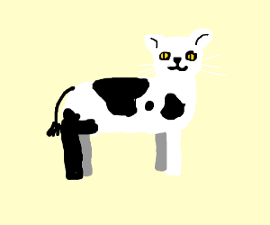 cow cat  drawception