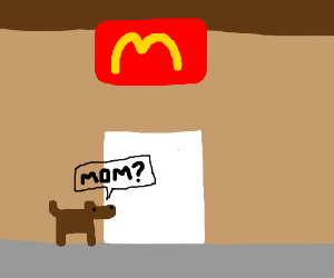Pup looks for his mum at McDonald's