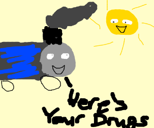 Thomas the train does drugs with the sun