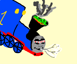 Thomas the smoker train
