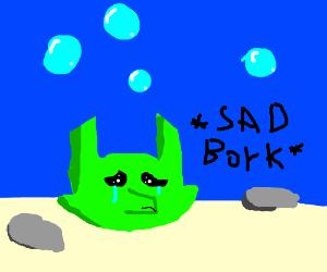 A very sad seaweed dog. :(