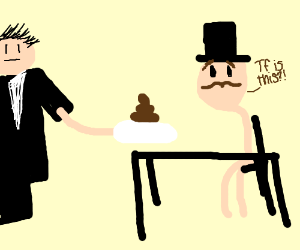 Man being served a soft turd