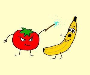 Pickle Rick And Tomato Morty Drawception